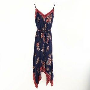 Xhilaration Floral Handkerchief Hemline Dress